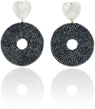 Lizzie Fortunato Starlet Mother-Of-Pearl Beaded Earrings