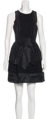 Robert Rodriguez Ruffle-Accented Mini Dress