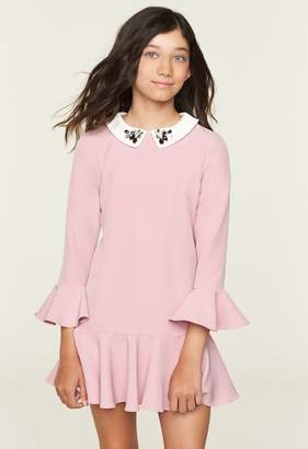 Milly Minis Bridgette Dress With Collar