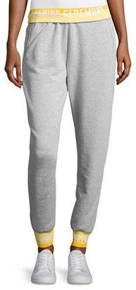 Opening Ceremony Heathered Jersey Elastic-Logo Sweatpants, Gray $150 thestylecure.com
