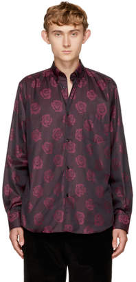 Cobra S.C. Burgundy Jacquard Rose Legacy Shirt