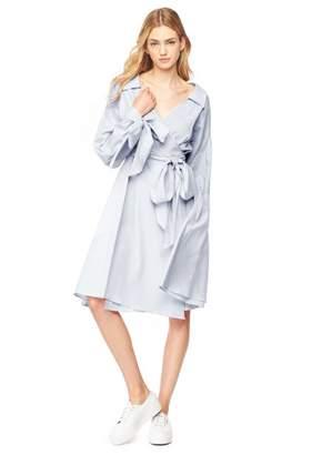Milly Herringbone Shirting Abigale Shirtdress