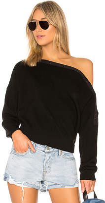 Alexander Wang Off Shoulder Crop Sweater