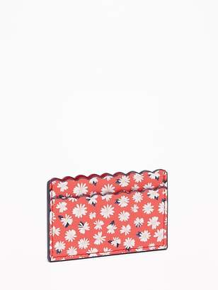 Old Navy Scalloped-Edge Faux-Leather Card Holder for Women