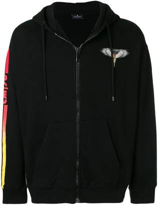 Marcelo Burlon County of Milan Wings Barcode zip hoodie