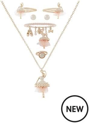 Monsoon Girls Pearlised Ballerina Jewellery Set