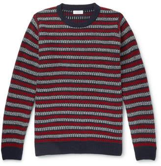 Sunspel Striped Wool Sweater