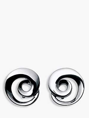 Georg Jensen Moebius Twirl Earrings, Silver