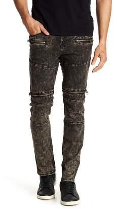 Request Moto Zip Stretch Jeans