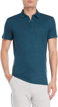 Majestic Filatures Teal Linen Polo