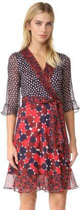 Diane von Furstenberg DVF Nieves Wrap Dress $598 thestylecure.com