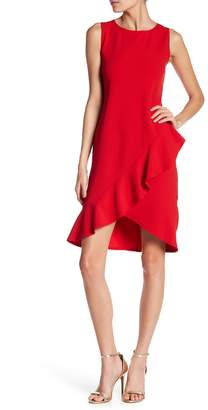 Bebe Crepe Ruffle Hem Dress