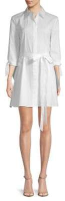 Milly Avery Quarter-Sleeve Shirtdress