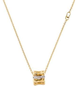 Chimento 18K Diamond Bamboo Pendant Necklace