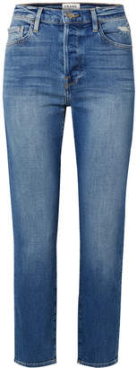 Frame Le Original Cropped High-rise Straight-leg Jeans - Mid denim