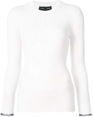 Proenza Schouler Long sleeve ribbed crewneck sweater