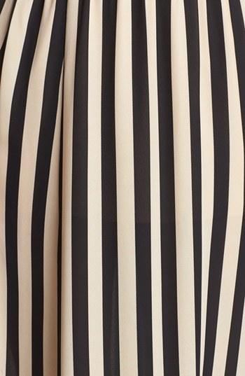 Blu Pepper Stripe Maxi Skirt (Juniors) (Online Only)