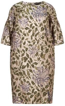 Marina Rinaldi Jacquard Bell Sleeve Dress