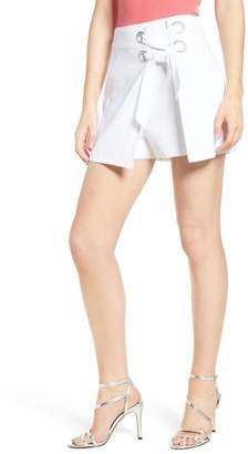 Leith Lace-Up Linen Blend Skort