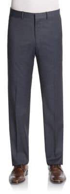 Theory Tick Weave Wool-Blend Trousers