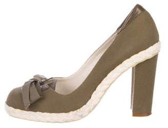 Marc by Marc Jacobs Canvas Round-Toe Pumps