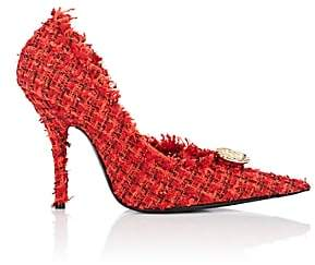 Balenciaga Women's Embellished Tweed Pumps - Red