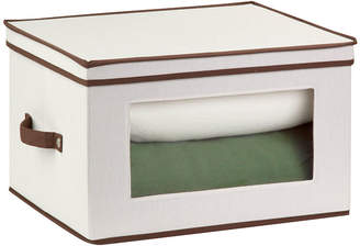 Honey-Can-Do Natural Canvas Tall Window Storage Box