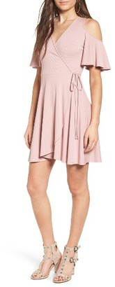 Women's Soprano Rib Knit Wrap Dress $45 thestylecure.com