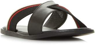 Dune Instinct Leather And Canvas Sandals