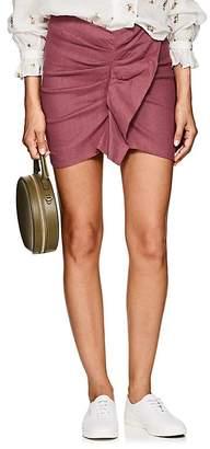Etoile Isabel Marant Women's Othlily Ruffled-Front Stretch Linen-Blend Miniskirt