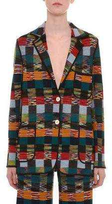Missoni Two-Button Allover Patchwork Wool Jacket