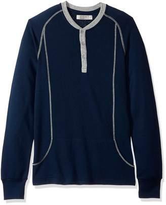 2xist Men's Essential Long Sleeve Henley Shirt