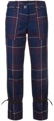Sacai checked trousers