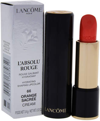 Lancôme 0.12Oz #66 Orange Sacree L'absolu Rouge Hydrating Shaping Lipcolor