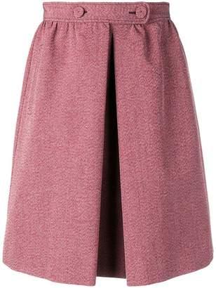 Bottega Veneta melange a-line skirt