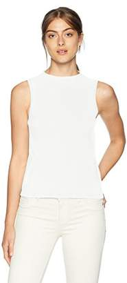 Milly Women's Sleeveless Knit Funnel Neck Tank