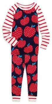 Hatley Little Girl's & Girl's Two-Piece Polka Dot Apple Pajama Set