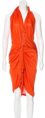 Lanvin Draped Sleeveless Midi Dress w/ Tags