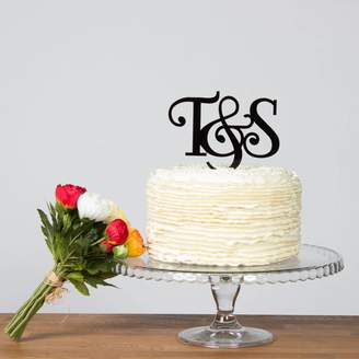 Funky Laser Initials Cake Topper