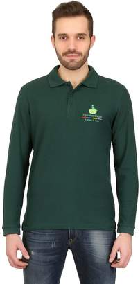 Long Sleeved Cotton Pique Polo Shirt