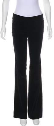 Nili Lotan Velvet Low-Rise Flared Pants