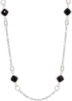 "Tiffany & Co. Kay Studio Sterling Silver Onyx 18"" Necklace"