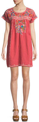 Johnny Was Samira Linen Peasant Tunic Dress, Plus Size