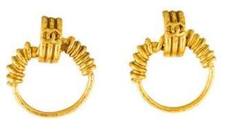 Chanel CC Coil Earrings