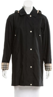Burberry Hooded Short Coat $445 thestylecure.com