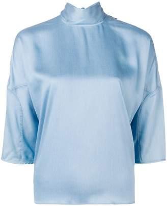 Tibi cropped sleeve blouse