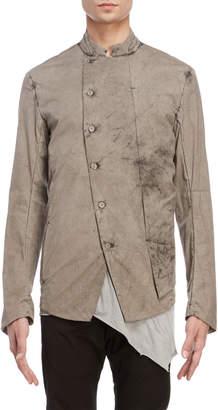 Masnada Mineral Wash Asymmetrical Jacket