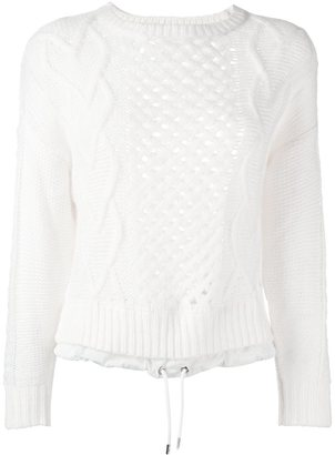 Diesel open knit drawstring sweater $191.52 thestylecure.com