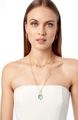 Freida Rothman Ocean Azure Double Drop Pendant Necklace