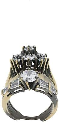 Iosselliani White Eclipse stacked ring